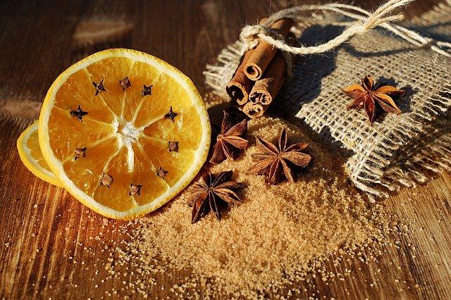 pomeranč s kořením