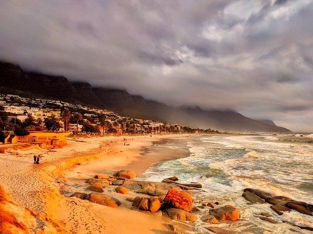 africká pláž
