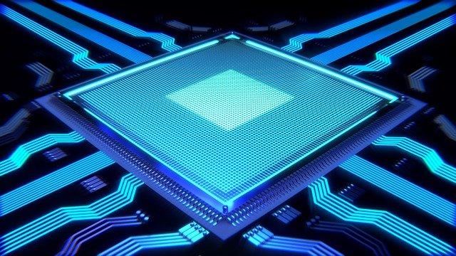 modrý procesor