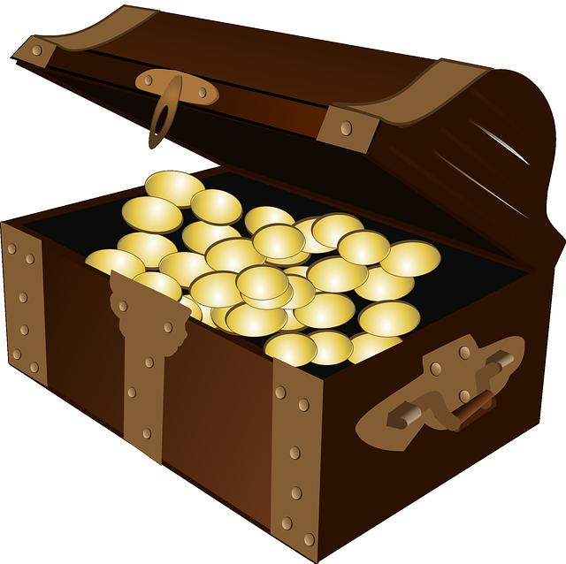 obrázek truhly se zlatým pokladem